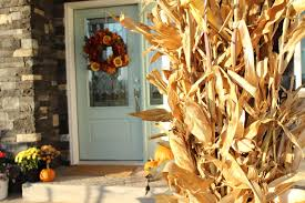 decorating with corn stalks front porch style the wood grain
