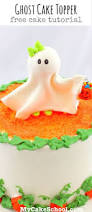 trick or treat how to make a ghost topper cake tutorial