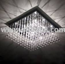 Square Ceiling Light Fixture by Modern Design Square Crystal Pendant Light Ceiling Lighting