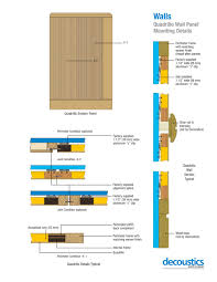 quadrillo wall panel mounting details decoustics pdf