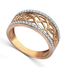 gold bands rings images Designer rose gold diamond wedding band ring for women jeenjewels jpg