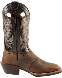 justin men u0027s punchy stampede cowboy boot square toe ebay