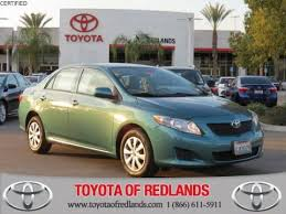 toyota corolla 09 pre owned 2010 toyota corolla le 4dr car in redlands 1800395a