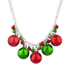 tone christmas x mas holiday jingle bells necklace