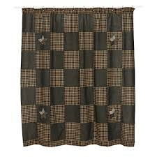 Large Pattern Curtains by Primitive Shower Curtains At Primitive Star Quilt Shop