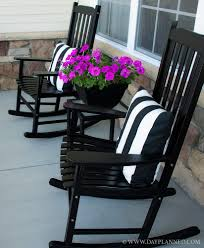 Old Rocking Chair Black Painted Rocking Chair Goes From Dated To Stunning Painted