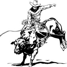 11 images of cowboy bull riding coloring page bull riding