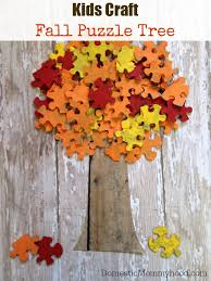 craft fall puzzle tree domestic mommyhood