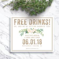 save the date cards cheap free drinks save the date card order yours at https www