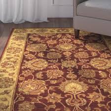 Floral Area Rug Charlton Home Cranmore Red Gold Floral Area Rug U0026 Reviews Wayfair
