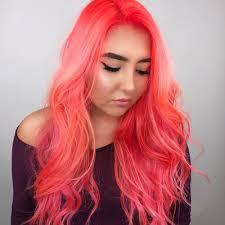 Colour Trend by Neon Peach Hair Colour Trend Popsugar Beauty Uk