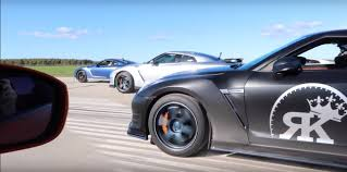 off road sports car 4 000 hp nissan gt r five car drag race ends in high speed offroad