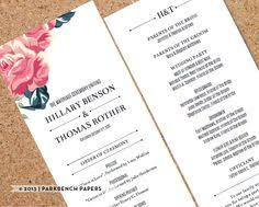 print at home wedding programs save the date printable template for microsoft word carla style