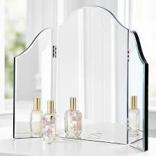 Folding Vanity Table Venetian Style Trifold Mirror Vanity Table Top Makeup Dressing 3