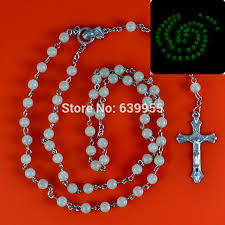 glow in the rosary glow in rosary inri jesus cross crucifix pendant necklace