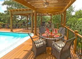 Deck Pergola Pictures by L Shaped Wood Pergola Over Pool Deck Archadeck Outdoor Living