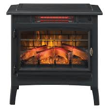 duraflame 3d black infrared electric fireplace stove with remote