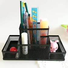 Desk Top Accessories Mesh Cube Metal Combination Desktop Study Storage Office Organizer