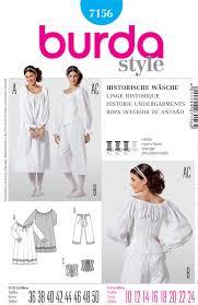 historical pattern review burda 7156 misses historic garments