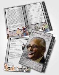 funeral program templates 2 page graduated step fold funeral program template brochure black