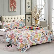 rainbow snow quilted duvet cover set