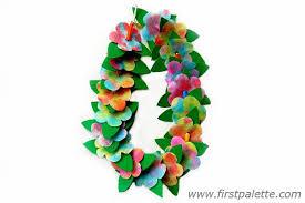 flower leis hula craft kids crafts firstpalette