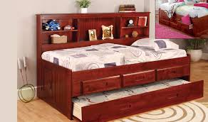 Full Size Captains Bed With Drawers Discovery World Furniture Merlot Twin Size Bookcase Day Bed