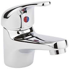 Basin Sink by Milano Bathroom Single Lever Chrome Mono Basin Sink Mixer Tap With