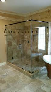 tub with glass shower door bathroom exquisite frameless glass shower doors for delightful