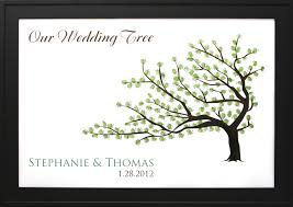 wedding tree wedding tree no 3 thumbprint guestbooks thumbprint wedding trees