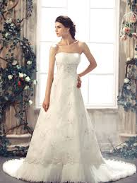 buy cheap lace luxury a line strapless chapel train ivory in stock