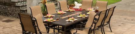Patio Dining Set With Fire Pit - castelle 54