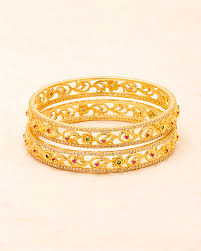 classic gold bracelet images Buy designer bracelets khanak classic gold plated bangles online jpg