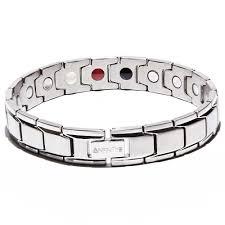 titanium magnetic bracelet black images Silver titancore titanium magnetic bracelet infinity pro ionic jpg