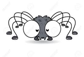funny spider with big eyes halloween vector illustration royalty