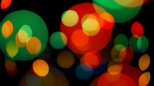beautiful colorful defocused bokeh festive lights as abstract