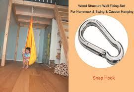 2018 hammock accessory wall fixing set snap hook for hammock