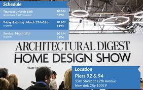 architectural digest home design show new york city do not lose the architectural digest design show 2017 best design