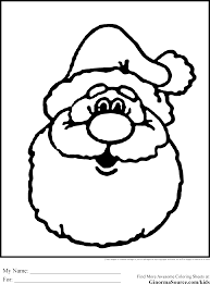 printable santa coloring pages for kids cool bkids online face