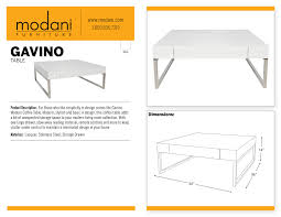 Download Design This Home Enhance Your Living Room With The Gavino White Coffee Table