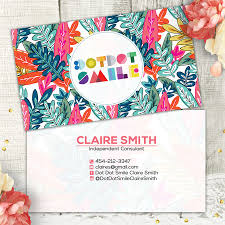 Stella And Dot Business Cards Dot Dot Smile Business Card Tropical Leaves Psd Template Dot Dot