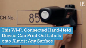 this wi fi connected hand held device can print out labels onto