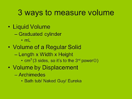 Eureka Bathtub Volume The Amount Of Space An Object Takes Up 3 Ways To Measure