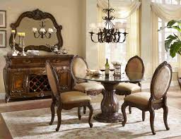 decorating imperial style dining set by michael amini furniture 5 piece dining set by michael amini furniture with chandelier and rug for dining room decoration