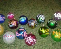 personalized painted ornaments etsy