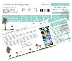 Boarding Pass Save The Date Destination Wedding Invitations Polka Dot Bride