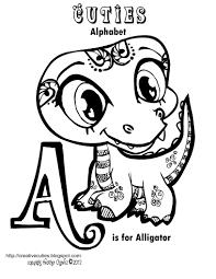 creative cuties alligator coloring
