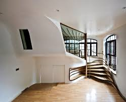 Apartment Stairs Design Organic Shaped Wooden Spiraling Staircase