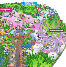 magic kingdom disney map magic kingdom 2010 guide map wdwmagic unofficial walt disney