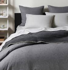 flannel graphite duvet cover unison